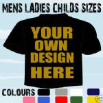 FANCY DRESS PARTY IDEA PERSONALISED T-SHIRT OWN DESIGN